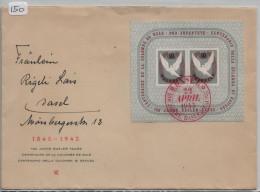 100 Jahre Basler Taube Block - Centenaire De La Colombe De Bale W22 Auf Brief - Blocs & Feuillets