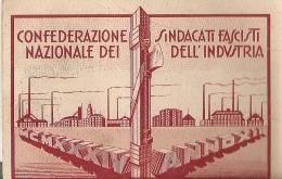 TESSERA DELLA CONFEDERAZIONE NAZIONALE DEI SINDACATI FASCISTI DELL'INDUSTRIA Anno XII 1934 _ Fascismo _ CANTOIRA (To) - Organizzazioni