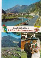 Österreich Oostenrijk Austria Zauberhaftes Pfunds Oberinntal Folklore Tirol Stempel Stamp Skier Ski - Autriche