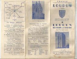 G-I-E ,dépliant Touristique , LOUDUN , Vienne , 8 Pages , 3 Scans - Dépliants Touristiques