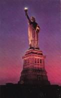 New York City Statue Of Liberty On Liberty Island At Night