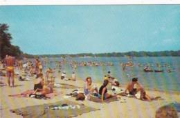 New York Long Island Typical Beach Scene