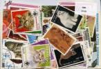 CHATS Lot De 100 Timbres Tous Differents. Satisfaction Assurée - Domestic Cats