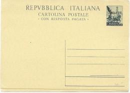 CIRC6 - ITALIE RÉPUBLIQUE EP CPRP QUADRIGA 20L+20L SURCHARGE  AMG-FTT (TRIESTE) NEUVE - 7. Triest
