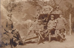 Foto Deutsche. Soldaten 1.Weltkrieg  Geschütz Schwere Artillerie Feldartillerie Fussartillerie - Oorlog, Militair