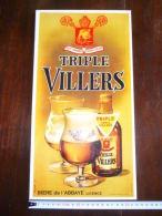 Brasserie Huyghe - Plaque Carton Publicitaire Triple Vieille Villers - 1975 - Villers La Ville 42x22 - Plaques En Carton