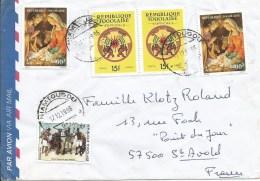 Togo 1996 Niamtougou G3 Christmas Dance Drumming Official Stamps Cover - Togo (1960-...)