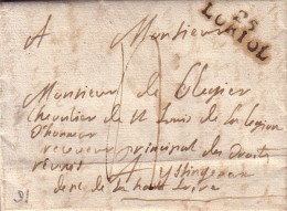 DROME - 25 LORIOL (27x9) - LETTRE AVEC TEXTE ET SIGNATURE DE GAZAVEL (CHATEAU) - TAXE 4 MANUSCRITE-VERSO CACHET DE CIRE - 1701-1800: Precursores XVIII