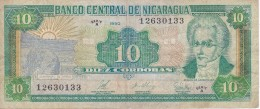BILLETE DE NICARAGUA DE 10 CORDOBAS DEL AÑO 1990   (BANK NOTE) - Nicaragua