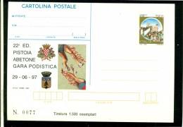 INTERO POSTALE-INTERI POSTALI I.P.Z.S.-C.P. IPZS- PISTOIA-SPORT-PODISMO- - Entiers Postaux
