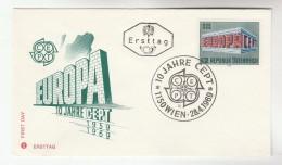 1969 AUSTRIA FDC EUROPA Stamps SPECIAL Pmk  Cover - 1969