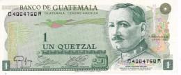 BILLETE DE GUATEMALA DE 1 QUETZAL DEL AÑO 1983 CALIDAD EBC (XF)  (BANKNOTE) RARO - Guatemala