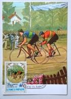 SAO TOME ET  PRINCIPE Cyclisme, Velo, Bicyclette. J.O. Los Angeles 84. FDC, Carte Maximum - Summer 1984: Los Angeles