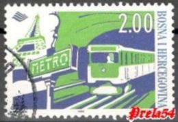 Bosnia Sarajevo - Paris Metro 1998 Used - Bosnia And Herzegovina