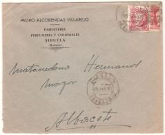 Carta Con Matasello Siruela (badajoz) - 1931-50 Brieven