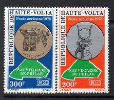 1978 Upper Volta Haute Volta UNESCO Falcon  Complete Set Of 2 MNH - Alto Volta (1958-1984)