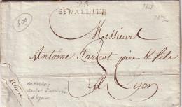 DROME - 25 ST VALLIER - LETTRE AVEC TEXTE ET SIGNATURE DU 18-6-1813 - TAXE MANUSCRITE 3. - 1701-1800: Précurseurs XVIII