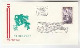 1975 AUSTRIA FDC CHRISTKINDL Stamps SPECIAL Pmk  Cover Christmas Religion - Christmas