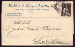 1920s ENVELOPE CARTA / Postal Publicitario: LOJA De MODAS Rua Sá Da Bandeira PORTO. Old Advertising Postcard Portugal - Porto