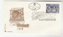 1970 AUSTRIA FDC CHRISTKINDL Stamps SPECIAL Pmk  Cover Christmas  Religion Music - Christmas
