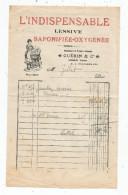 G-I-E , Facture , L'indispensable Lessive Saponifiée - Oxygénée , GUERIN & Cie , DISSAIS ,Vienne - Invoices & Commercial Documents