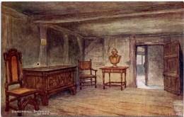 SALMON ART - QUATREMAIN 2672 - SHAKESPEARE'S BIRTHPLACE - THE BIRTH ROOM - Stratford Upon Avon