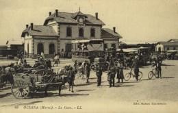 MAROC - OUDJDA - La Gare - Très Beau Plan - 63 - Maroc