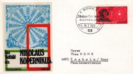 Duitsland - FDC 19-2-1973 - 500. Geburtstag Von Nikolaus Kopernikus - Michel 758 - [7] República Federal