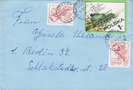Poland WALBRZYCH 1974 Cover Brief BERLIN Germany Orchidee Orkideen Tank PanzerWaffen Stamp - Briefe U. Dokumente
