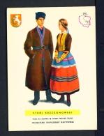 POLAND  -  Regional Costumes  Stroj Krzczonowski  Unused Postcard - Costumes