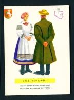 POLAND  -  Regional Costumes  Stroj Wlodawski  Unused Postcard - Costumes
