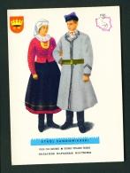 POLAND  -  Regional Costumes  Stroj Sandommierski  Unused Postcard - Costumes