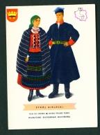 POLAND  -  Regional Costumes  Stroj Kielecki  Unused Postcard - Costumes