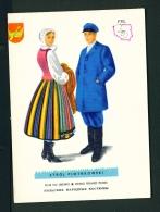 POLAND  -  Regional Costumes  Stroj Piotrkowski  Unused Postcard - Costumes