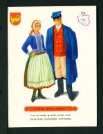 POLAND  -  Regional Costumes  Stroj Wielunski  Unused Postcard - Costumes