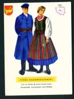 POLAND  -  Regional Costumes  Stroj Radomszczanski  Unused Postcard - Costumes