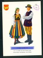 POLAND  -  Regional Costumes  Stroj Lowicki  Unused Postcard - Costumes