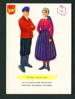 POLAND  -  Regional Costumes  Stroj Leczycki  Unused Postcard - Costumes