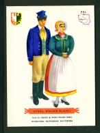 POLAND  -  Regional Costumes  Stroj Dolno-Slaski  Unused Postcard - Costumes