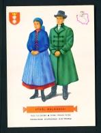 POLAND  -  Regional Costumes  Stroj Malborski  Unused Postcard - Costumes
