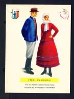 POLAND  -  Regional Costumes  Stroj Warminski  Unused Postcard - Costumes