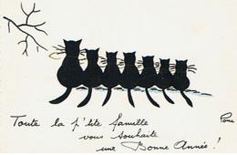 CHAT TOUTE LA P TITE FAMILLE VOUS SOUHAITE UNE BONNE ANNEEE  DE PONI      ***  A  SAISIR   **** - Katten