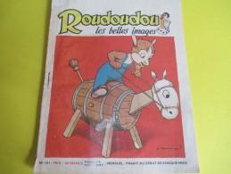 Enfant / ROUDOUDOU Les Belles Images /N° 101/Imprimerie Crété/ Mars 1959        BD89 - Libros, Revistas, Cómics