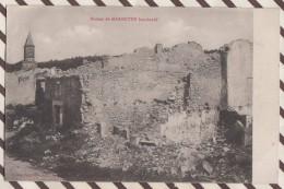 6AI2367 GUERRE 1914 RUINES MARBOTTE BOMBARDE  2 SCANS - Oorlog 1914-18