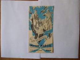 JEUMONT MAISON MARCEL 90-92 RUE HECTOR-DESPRET DEPLIANT PUBLICITAIRE 1958 - Kleidung & Textil