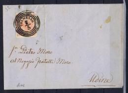 Osterreich Lombardei Venetien Sa 3 Type I Cover Tolmezzo To  18-05-1855  Lombardo Veneto - 1850-1918 Imperium