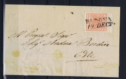 Osterreich Lombardei Venetien 15 C.  Type II  Letter Padova To Este  1851  Wide Margins Lombardo Veneto - 1850-1918 Imperium