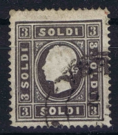 Osterreich Lombardei Venetien 1850 Nr 7 Ib Grauschwarz  Used   Lombardo Veneto  1858 - Gebraucht