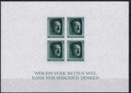 Deutsche Reich Mi Block 8  MNH/**  Has A Light Gum Fold 1937 - Blocks & Kleinbögen