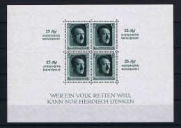 Deutsche Reich Mi Block 9 MH/* Falz  Stamps Are MNH/** - Blocks & Kleinbögen